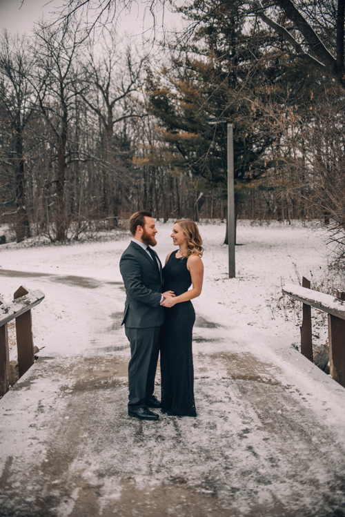 take forty five - airbrush makeup artist - winter engagement photos