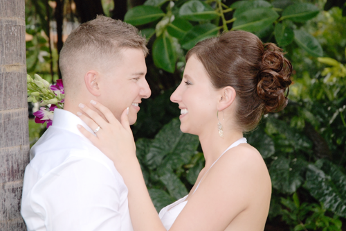 take forty five - airbrush makeup artist - destination wedding in Jamaica bride and groom