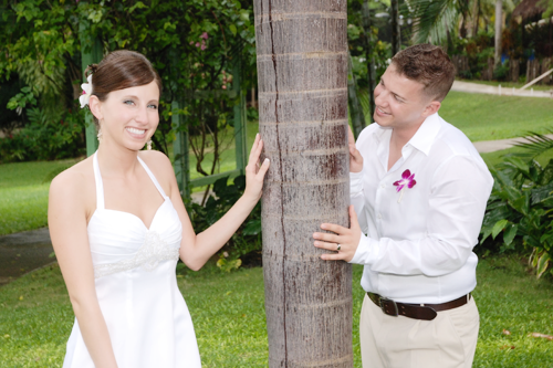 take forty five - airbrush makeup artist - destination wedding in Jamaica Sandals Ochi bride and groom