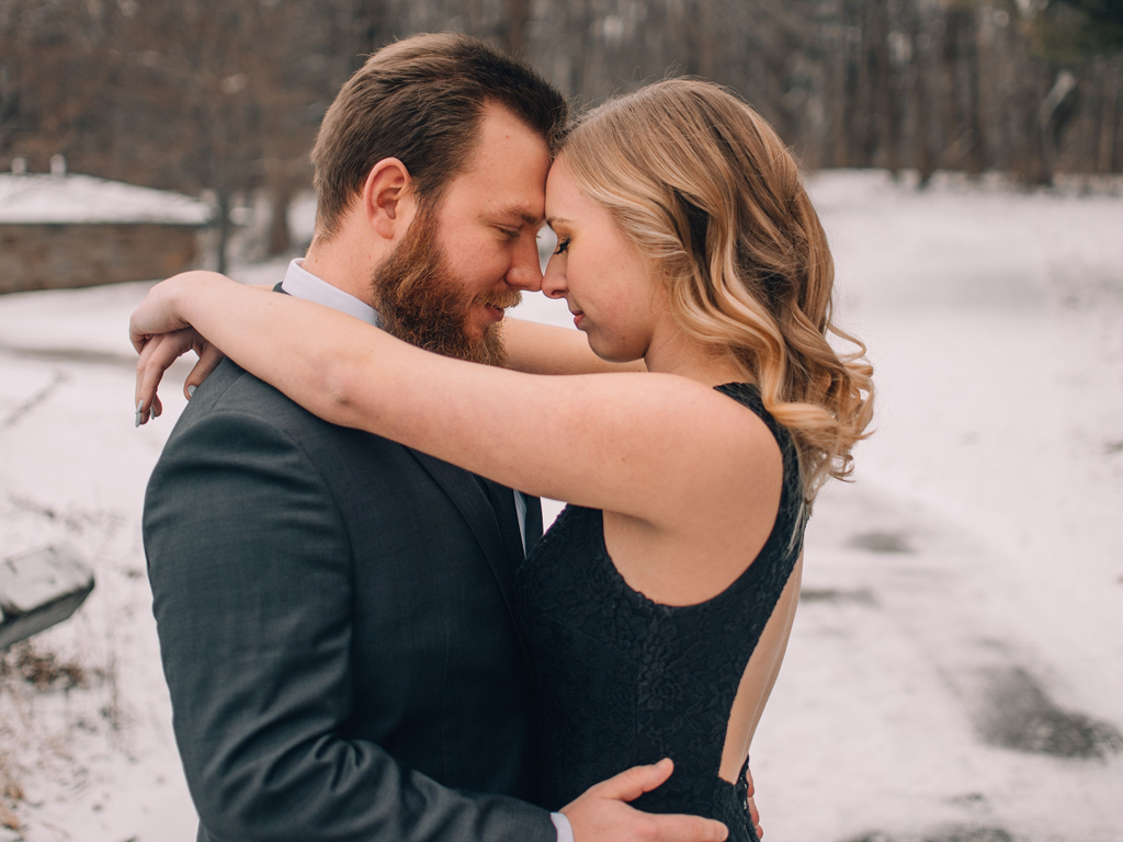 take forty five - airbrush makeup artist Scout Lake Park winter engagement photos Featured Image